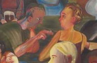 """""""Biergarten at Night,"""" 2007 (detail)"""