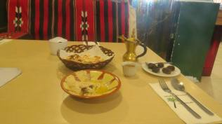 Hummus and Arabian Coffee at Sahara Tent