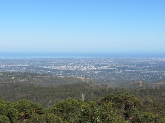 View over Adelaide City