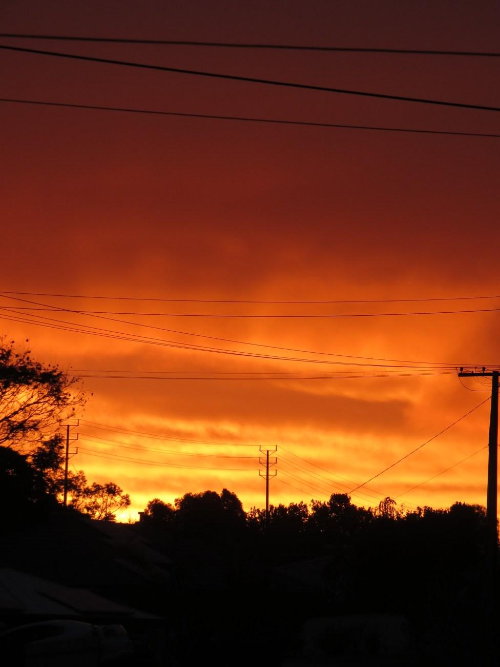 Sunset over Morphett Vale