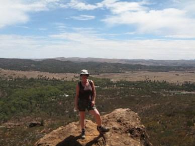 Hiking up Mount Ohlssen Bagge
