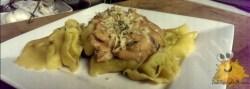 Gevulde Pasta met Tomaat Champignon Roomsaus