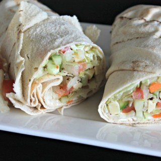 Vegetarische Wrapwich | TalkNomzToMe.nl