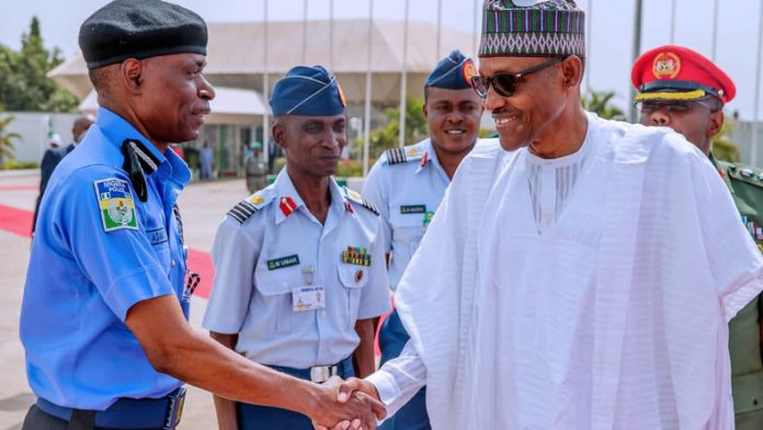 Image result for Buhari extends IGP Adamu's tenure by three months