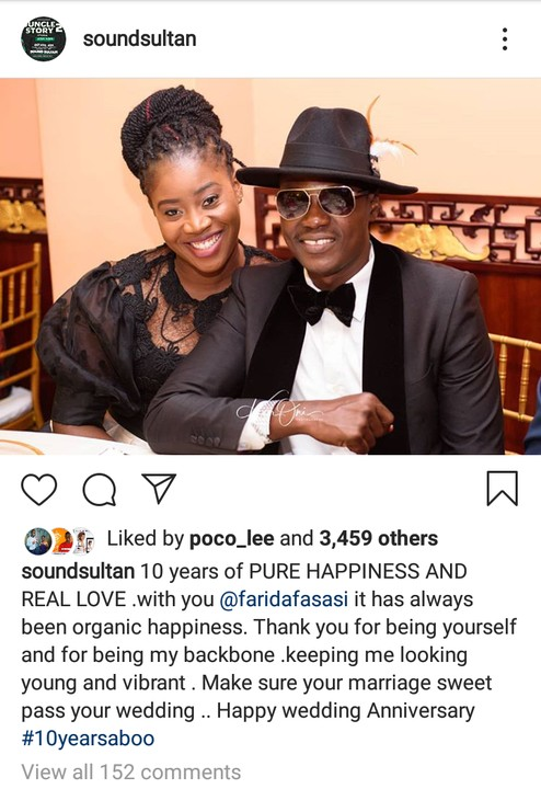 Image result for Sound Sultan celebrates 10th wedding anniversary with his wife Farida