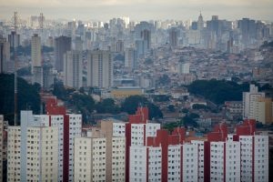 View of the crowded Sao Paulo cityscape. PHOTO CREDIT: ©Scott Warren