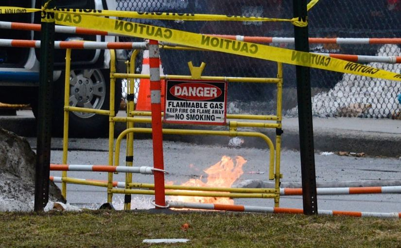Fire coming out of manhole at New Rochelle High School (File Photo)