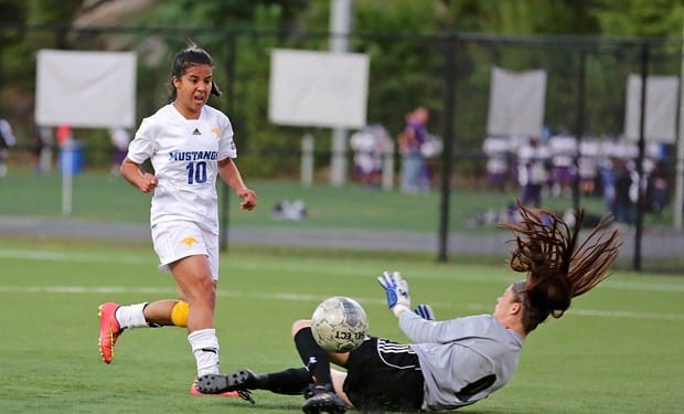 Women's Soccer Blanks Ocean County, 11-0