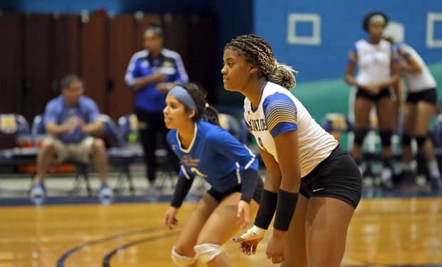 Monroe College Volleyball Blanks NCAA Opponent, Mercy College 3-0.jpg