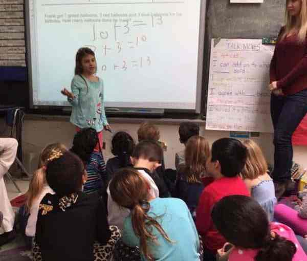 Davis First Graders Focus on Math Talk