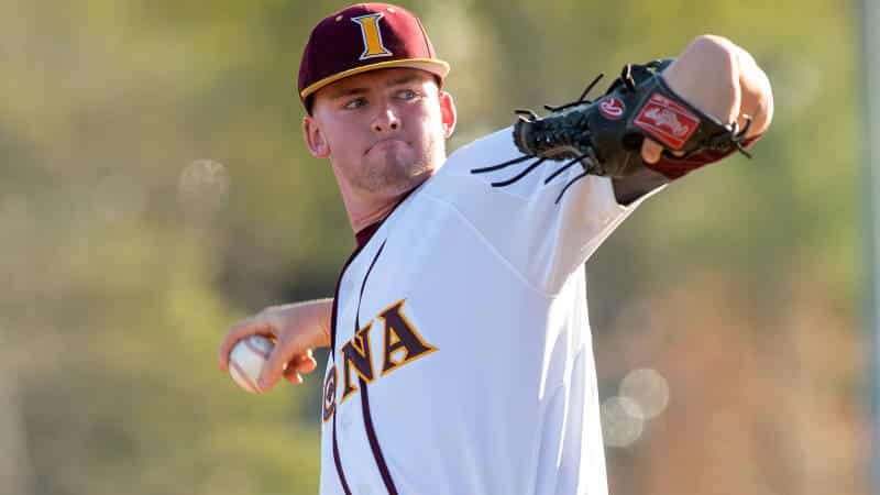 Pitching and Late Scoring Leads Iona Baseball Past Towson, 3-1.jpg