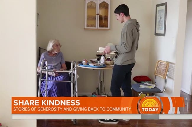 TODAY Show Spotlights Student, Meals on Wheels