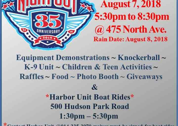 2018 National Night Out & Harbor Unit Boat Ride