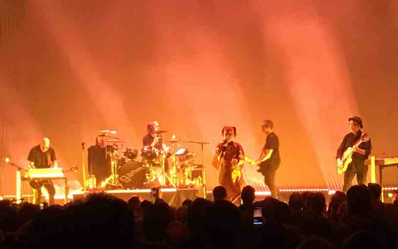 Garbage with Shirley Manson on stage at The Capital Theatre on Saturday night.