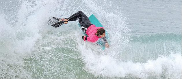 TWIST AND SHOUT: Iain Campbell, a member of the SA team determined to show the Aussies what we can do, pictured at this year's West Beach Warfare, that took place in Port Alfred recently. Picture: ROB KNOWLES