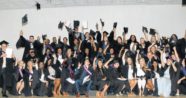 HATS OFF TO YOU: A record of 49 Stenden students graduated with Bcom degrees in Hospitality management at the yearly graduation ceremony, held at the Royal St Andrews Hotel last Friday. Picture: ROGER GAILEY