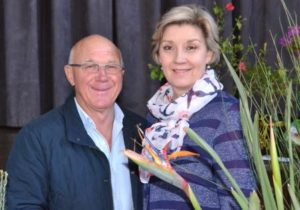 MASTER CLASS: South Africa's garden guru, Keith Kirsten, left, presented a talk on sustainable gardening at the most recent meeting of the Port Alfred Garden Club. With him is club chairwoman Liezl Kleynhans Picture: ROB KNOWLES