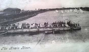 EARLY BOAT RACES: The settlers are believed to have converted fishing boats for sailboat races