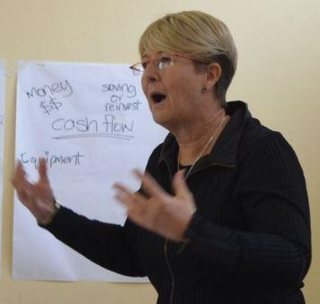MOTIVATING ENTREPRENEURS: Business coach Shona Bell held a small business workshop in Kenton-on-Sea recently Picture: JON HOUZET