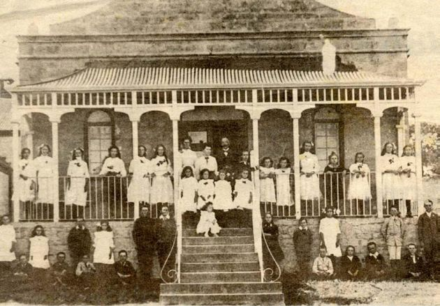 EARLY DAYS: The pupils of Bathurst Primary School, established by the 1820 Settlers
