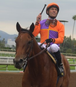 Beholder and Gary Stevens after winning the Adoration. Photo by Terri Keith.