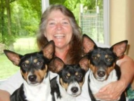 Sue Lee and her 3 pups