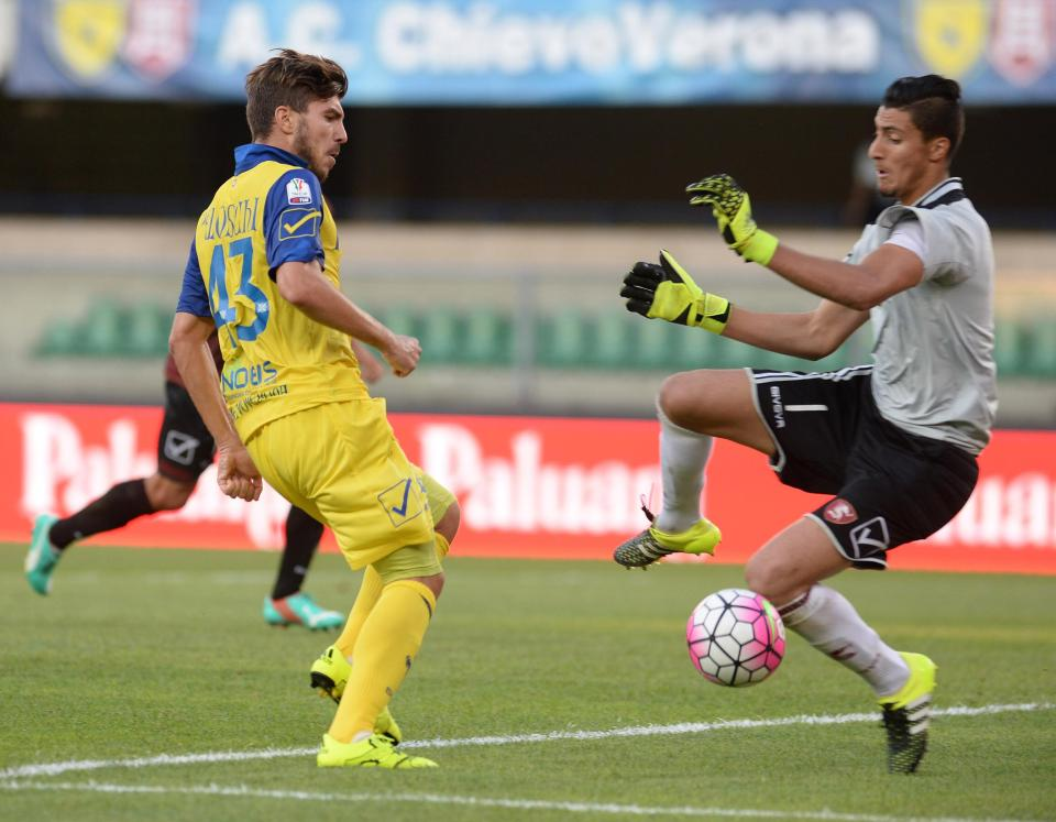 The goalkeeper during his debut for Serie B side Salernitana  Who is Thomas Strakosha? Taking a closer look at the Lazio star tipped to be the new Liverpool goalkeeper GettyImages 484344742