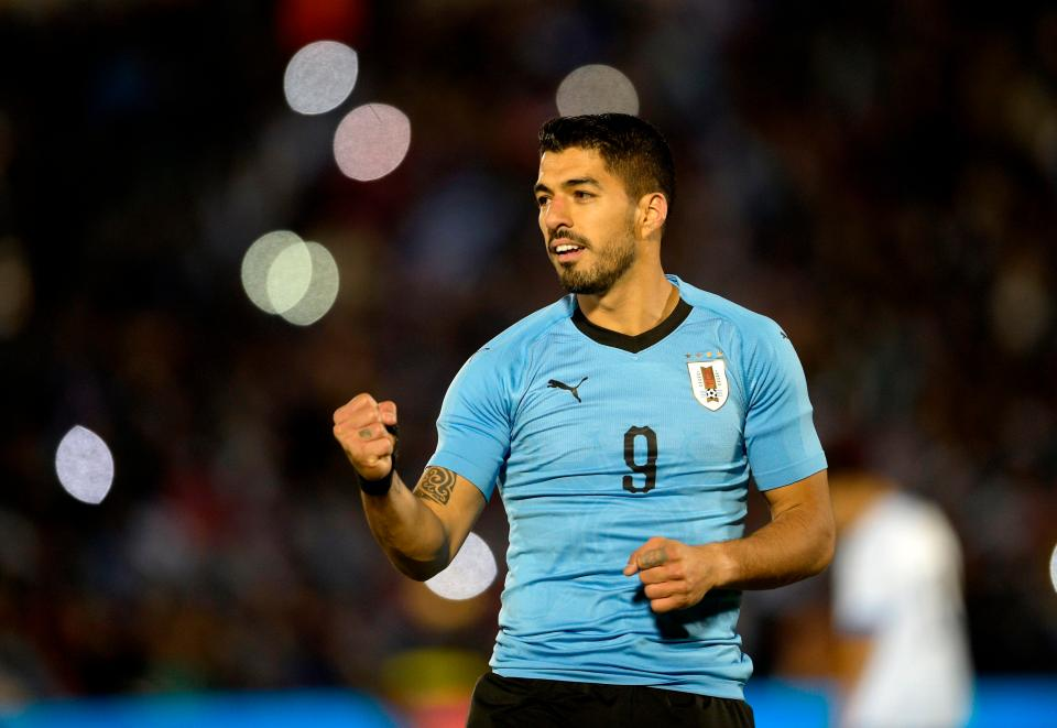 Luis Suarez will lead the line for Uruguay at the World Cup  Brazil, France, England, Germany, Spain and ALL the 32 squads selected for Russia GettyImages 969388298