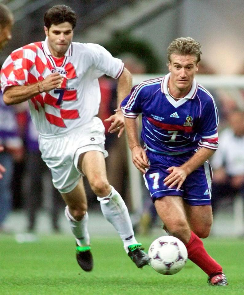 Deschamps was captain when France met Croatia 20 years ago  World Cup 2018 match preview, live commentary and team line-ups GettyImages 51657526