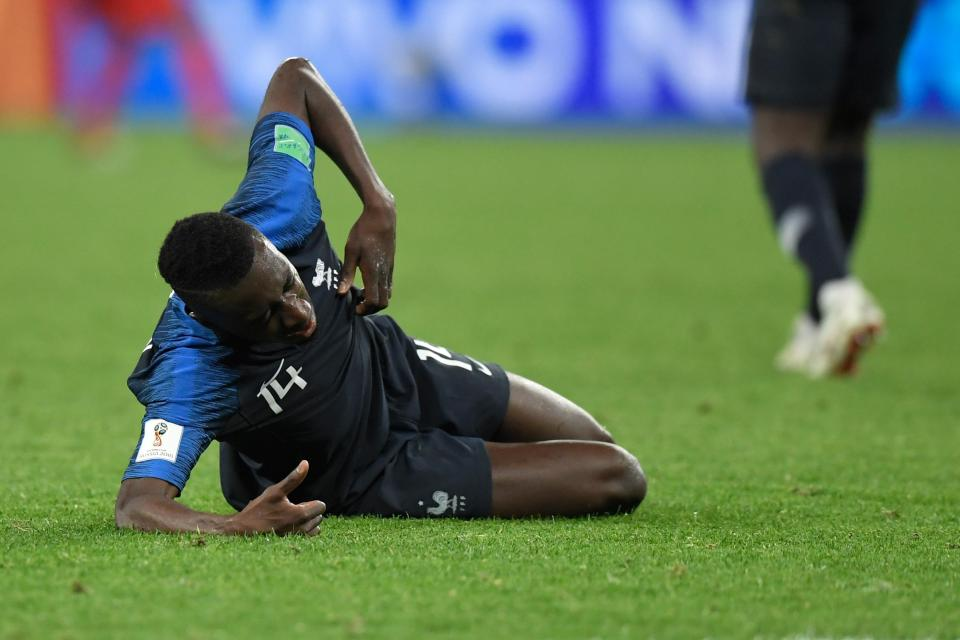 Matuidi looked dazed after the collision  World Cup 2018 match preview, live commentary and team line-ups GettyImages 995585690