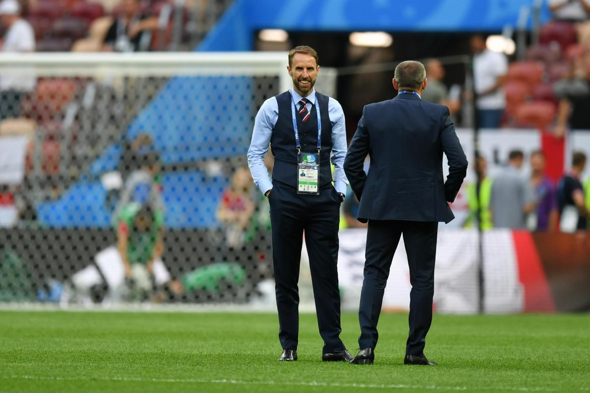 Gareth Southgate cut a relaxed figure ahead of the match