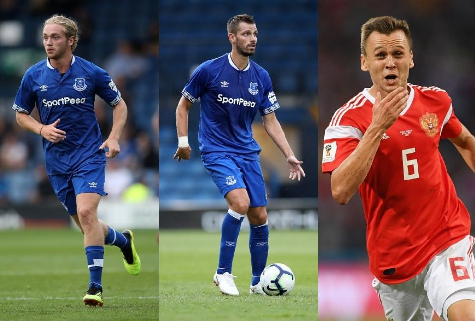 MIDFIELD: Tom Davies, Morgan Schneiderlin, Denis Cheryshev  How Everton could look in the 2018/19 season including Richarlison, Lucas Digne and Denis Cheryshev everton midfield