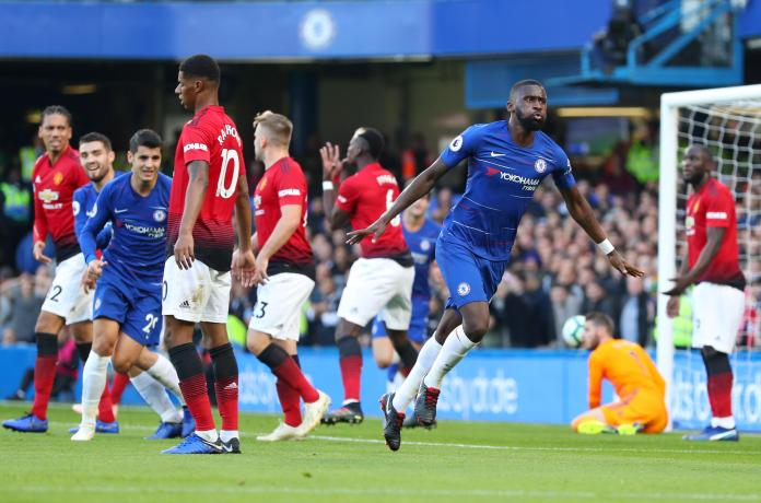 Rudiger put Chelsea in front against Manchester United