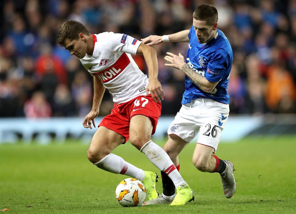 Ryan Kent looked the man most likely to make things happen for the hosts  Steven Gerrard's men frustrated at Ibrox in Europa League clash GettyImages 1053438542