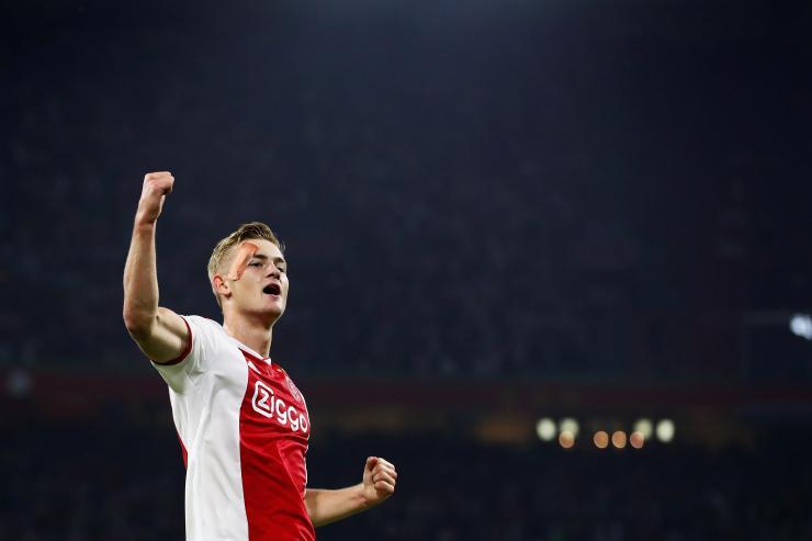 Ajax defender Matthijs de Ligt celebrates