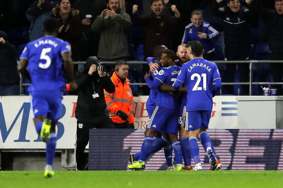 Cardiff are 15th in the Premier League  Junior Hoilett scorcher sees Bluebirds complete hard-fought turnaround win GettyImages 1066904800