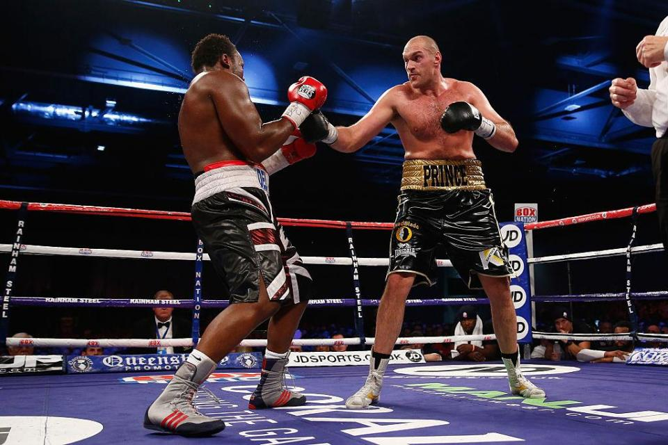 Chisora and Fury have fought each other twice before – Fury winning both times  Tyson Fury's bout with Deontay Wilder is too soon for British heavyweight, says friend Dereck Chisora GettyImages 459723894