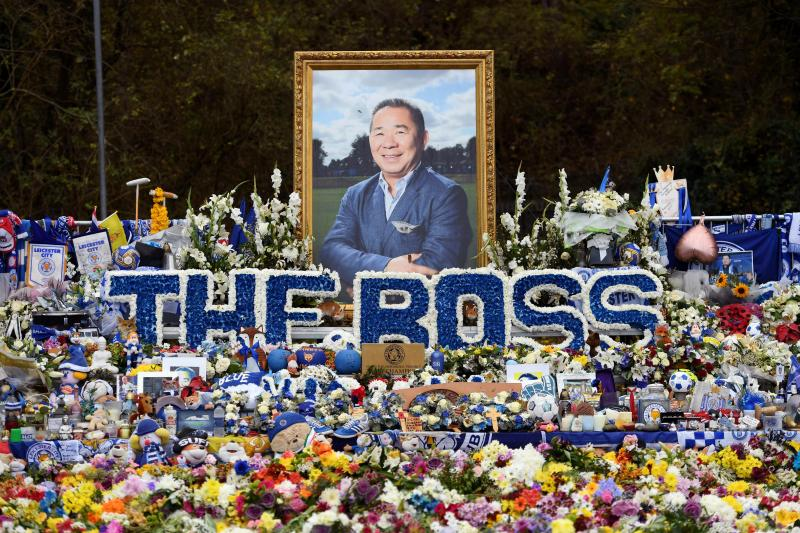 How Leicester fans are honouring Vichai a year on from tragic helicopter crash