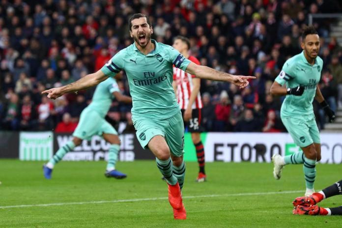 Mkhitaryan scored both of Arsenal's goals