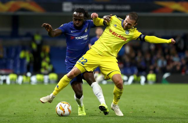 Victor Moses is not in Maurizio Sarri's first-team plans