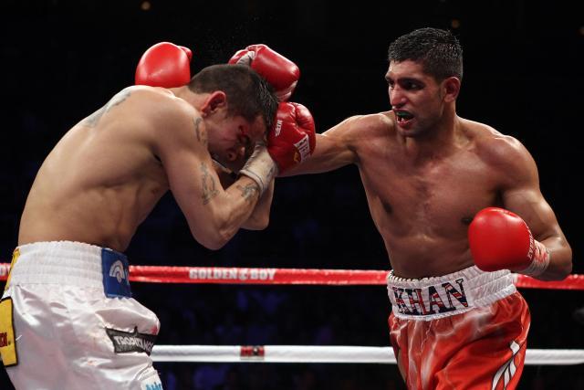 Amir Khan beat Marcos Maidana in 2010