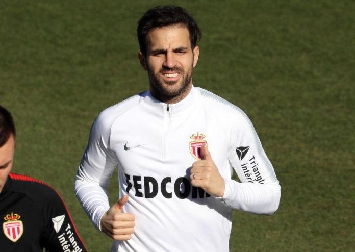 Fabregas in training for his new club