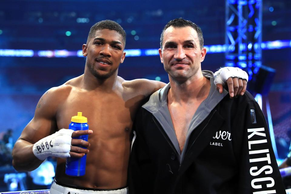 Klitschko phoned AJ for advice ahead of his fight with Kubrat Pulev