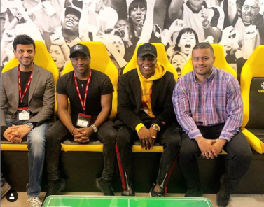 Brandy, along with co-founders, Keita Orelaja and Raj Sharma visited talkSPORT HQ