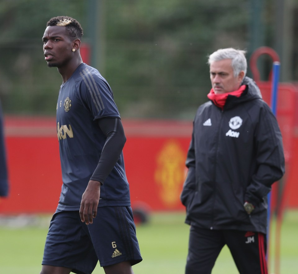 Pogba and Jose Mourinho had notorious falling out at Manchester United