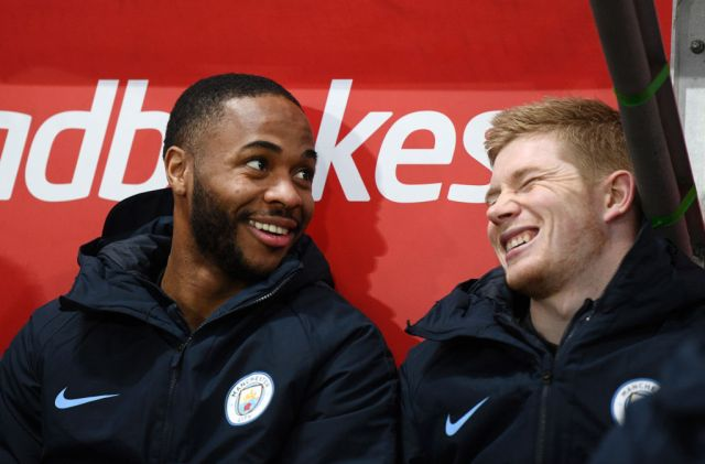 Sterling and De Bruyne are in their fourth season playing alongside one another at City