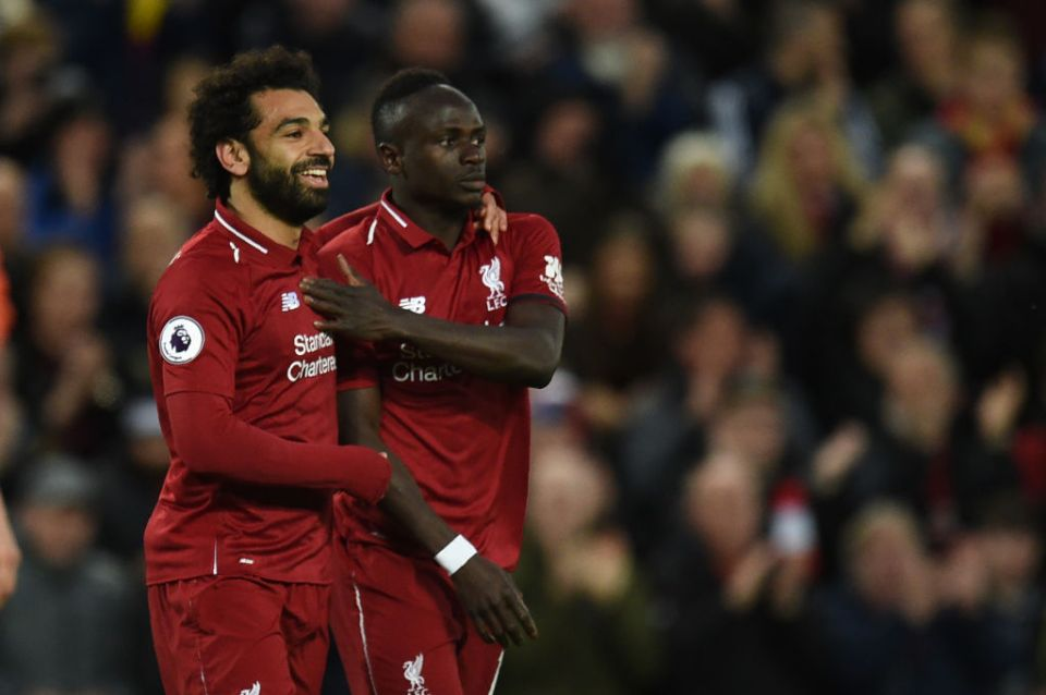 Salah and Mane's goals against Huddersfield put them first (21) and second (20) in the race for the Premier League golden boot