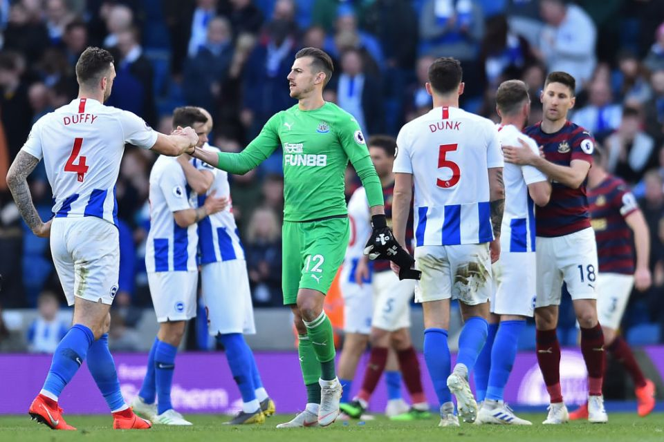 It looks like Brighton will be staying up despite their dreadful form in the second half of the season