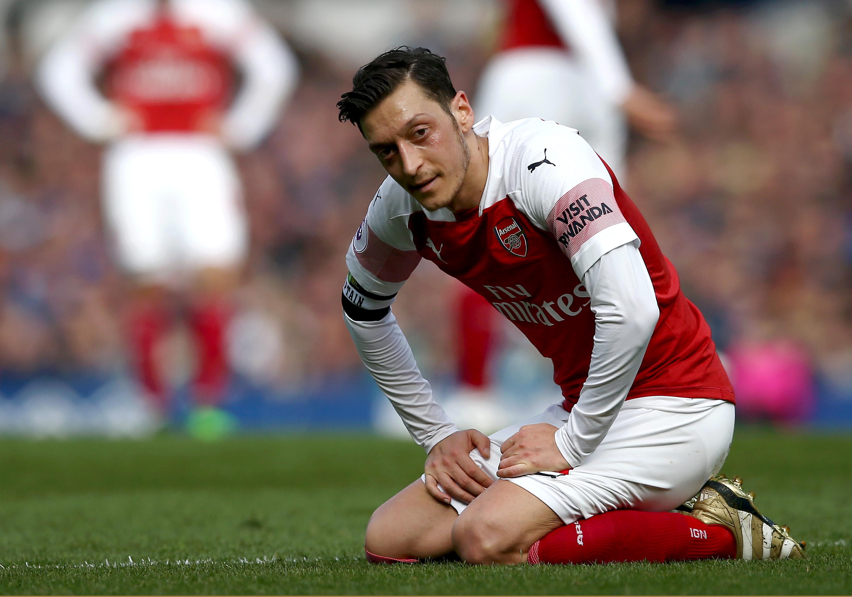 Ozil struggled against Everton