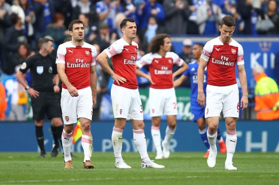 But Arsenal lost their third game in seven days with a bad defeat at Leicester